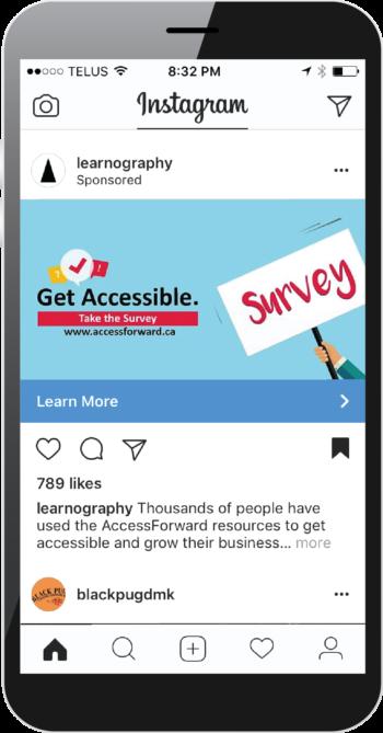 Get Accessible Instagram Advert