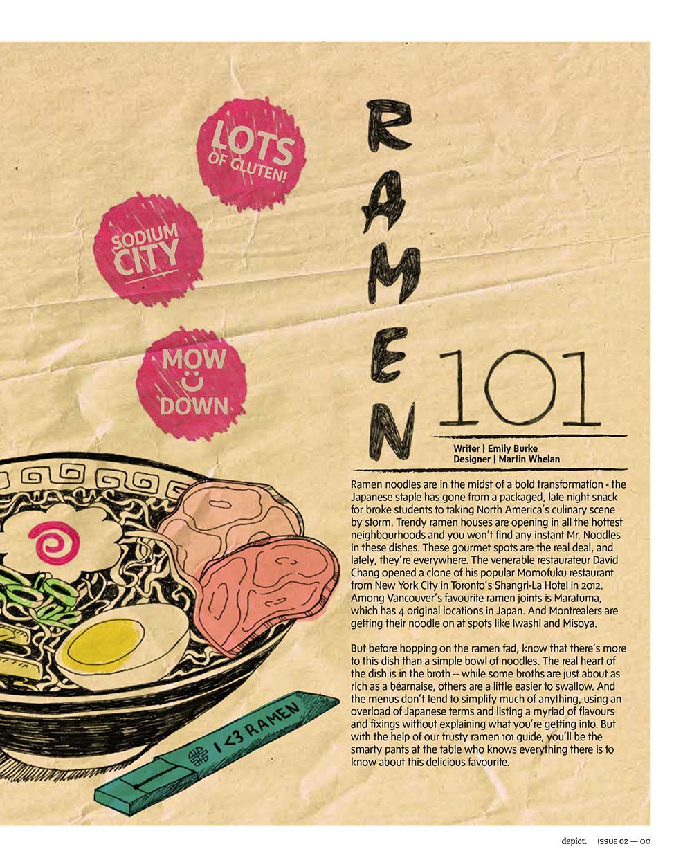 Depict Magazine | Visual Editorial Design Ramen Noodles